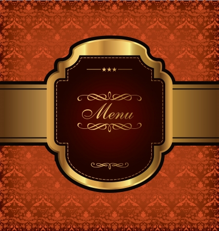 Golden Vintage Menu Design Vector
