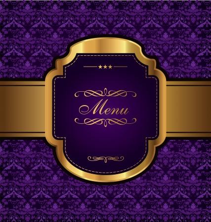 highness: Golden Vintage Menu Design