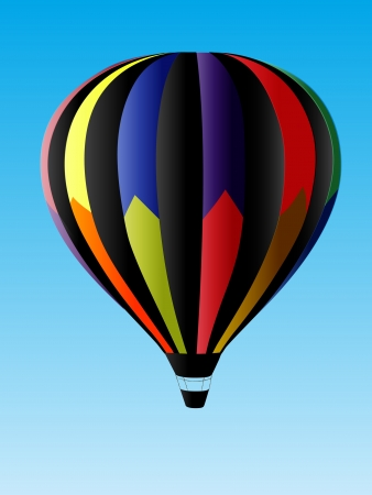 airship: Hot Air Balloon Illustration