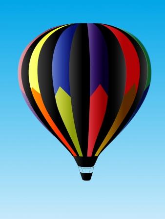 midair: Hot Air Balloon Illustration
