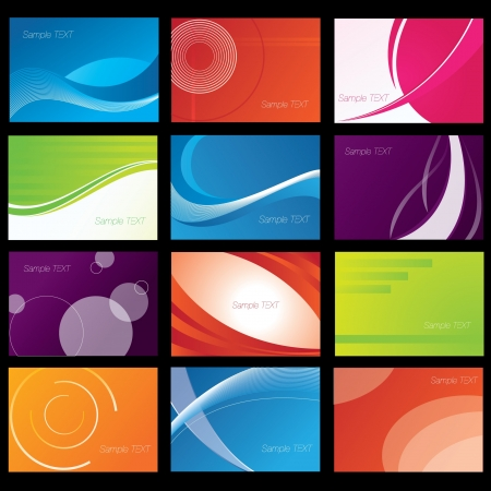 Background Set Stock Vector - 14576519