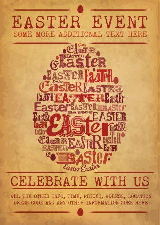 buona pasqua: Evento di Pasqua Poster Vettoriali