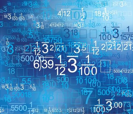 Math Background Style Blu