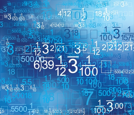 mathematics symbol: Math Style Blue Background