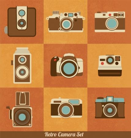 Retro Camera Set Ilustracja