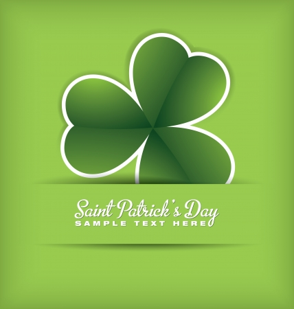 four leafed: Saint Patrick s Day Design