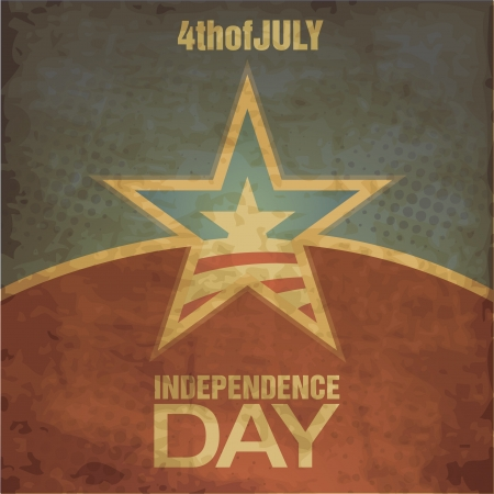 Independence Day Grunge Design Vector