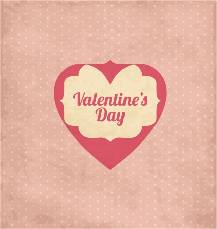 Vintage Valentines Day Template Design Vector