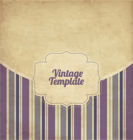 scrapbook cover: Plantilla de dise�o Vintage