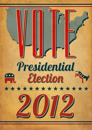 presidential election: Vote - Presidential Election Poster Illustration