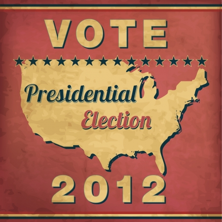 Vote - Vintage Presidential Election Design Vector