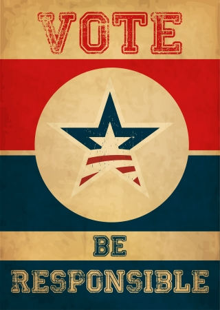 suffrage: Vote - Presidential Election Poster Illustration