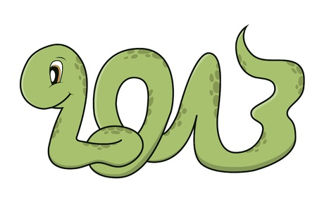 Cute snake - 2013 - year of the snake in Chinese zodiac Vector