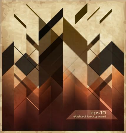 fondo geometrico: Resumen Fondo retro con formas geométricas