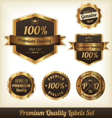 gold ribbon: Premium Quality Labels