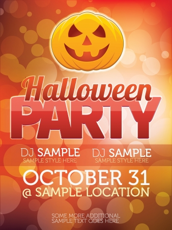 halloween party: Halloween Party Flyer Stock Photo