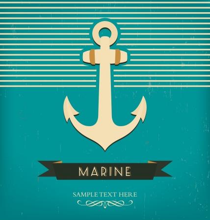 ancre marine: Modèle de conception de cru avec l'ancre Illustration