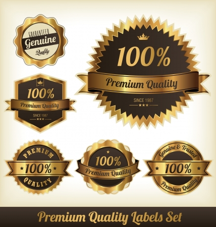 Premium Quality Labels Set Illustration