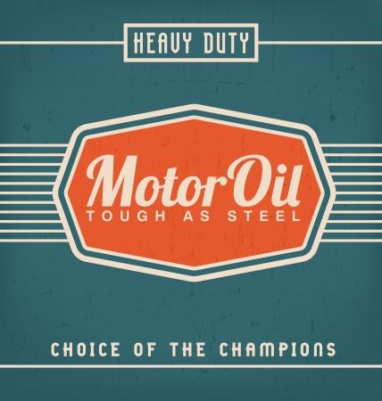 gasolinera: Etiqueta del vintage plantilla de diseño