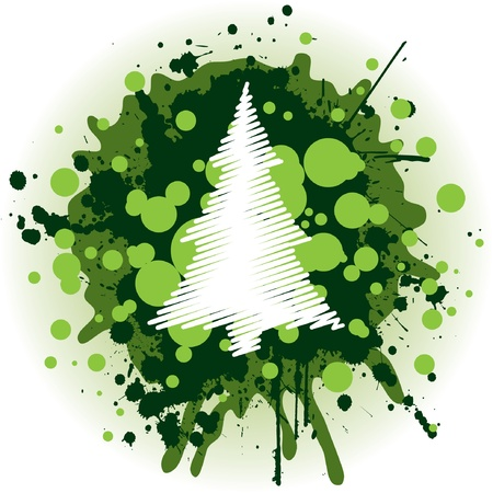 Grungy Christmas Tree Vector