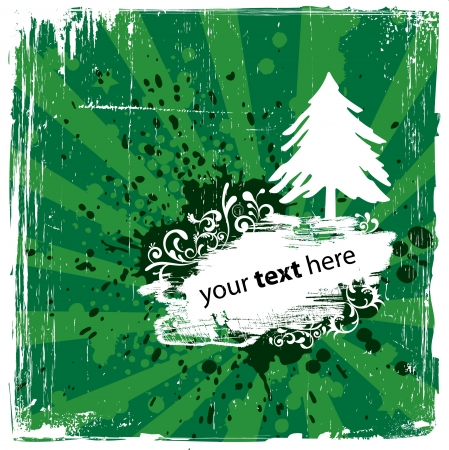 Grungy Green Winter Background Stock Vector - 15793387