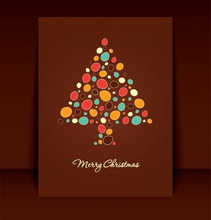 Retro Brown Christmas Card Design Stock Vector - 15793379