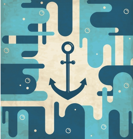 industrial ship: Nautical anchor - vintage design