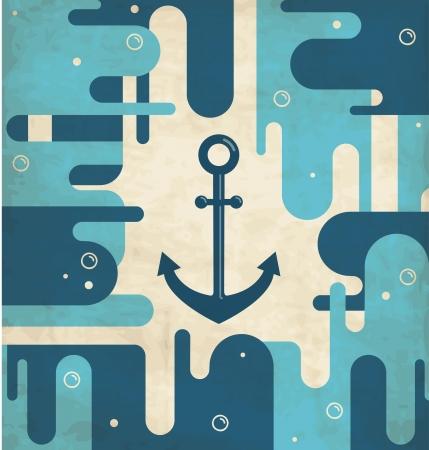 Nautical anchor - vintage design Stock Vector - 15793417