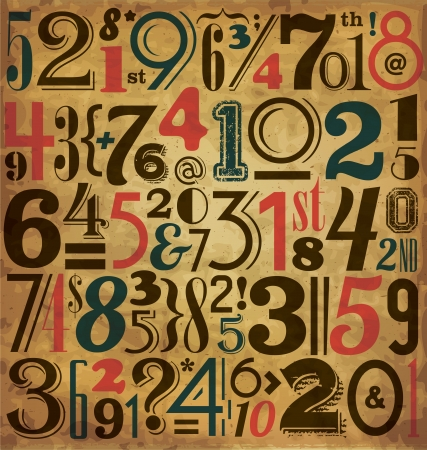 Vintage Numbers - Typographic Background Stock Vector - 15793419