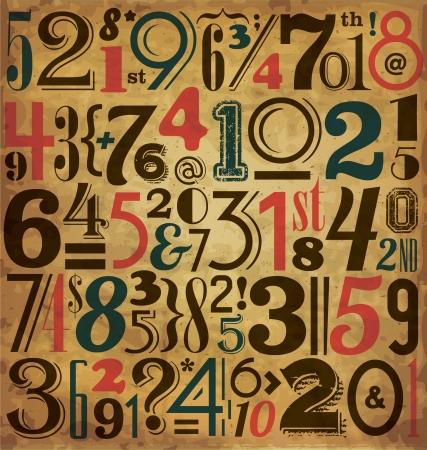 Vintage Numbers - Typographic Background Stock Vector - 15793419