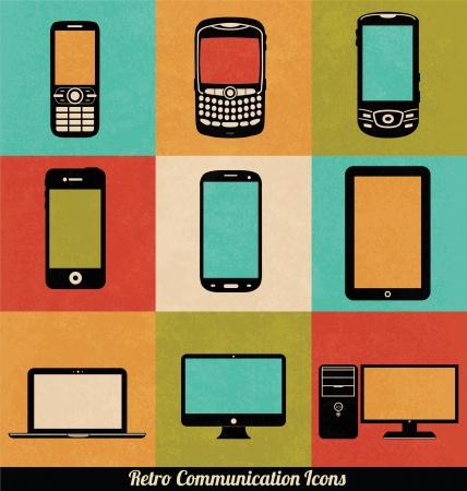 Retro Communication Icons Stock Vector - 15793418