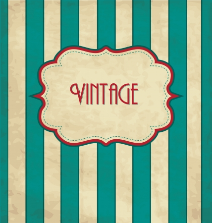 typography: Vintage Design Template