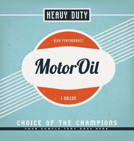 motor transport: Vintage Label Design Template Illustration