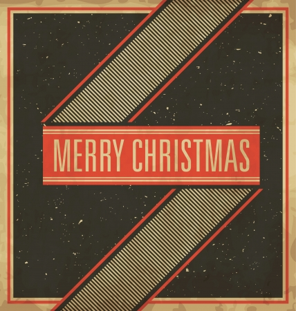 Christmas Greeting Card - Vintage Design Vector