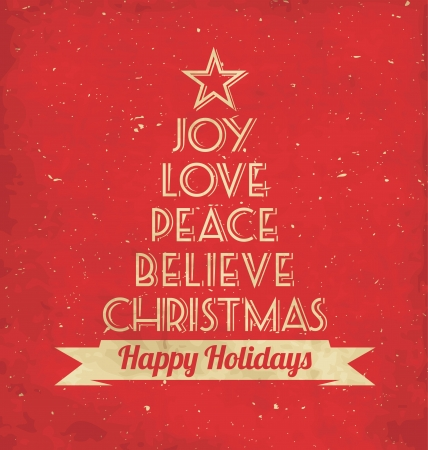 Christmas Greeting Card - Typographic Design Vector