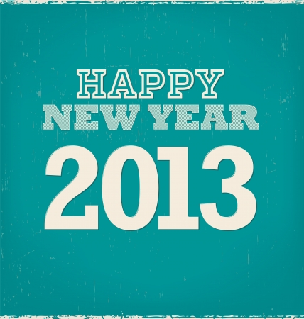2013 - calligraphic new year greeting design Vector