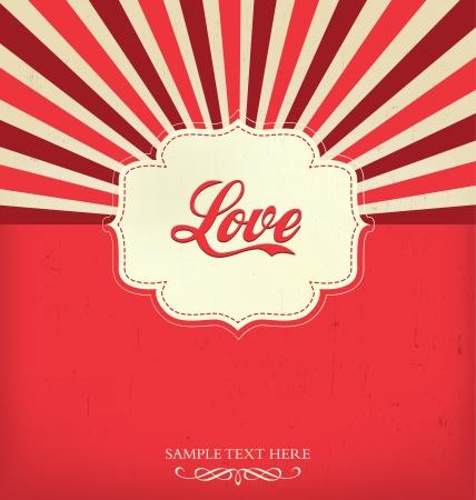 valentin day: Love - Valentines Design Template