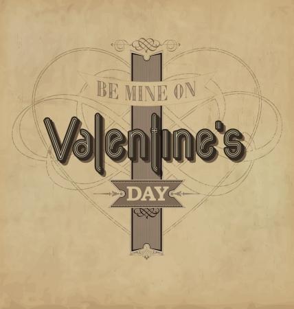 ornate heart: Valentine s Day - calligraphic design template