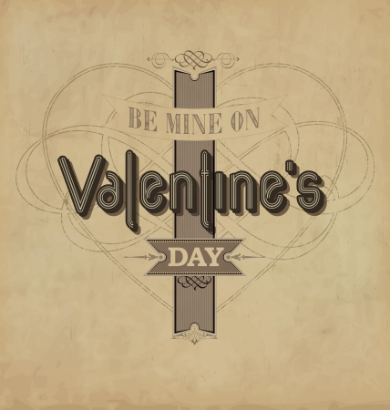 Valentine s Day - calligraphic design template Stock Vector - 17134267