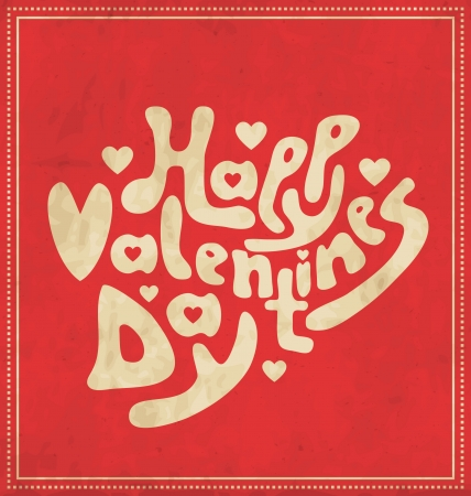 Happy Valentine s Day - hand lettering Stock Vector - 17134266