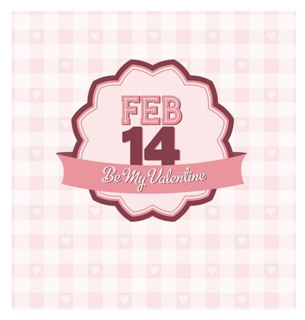 Valentine s Badge Stock Vector - 17134262