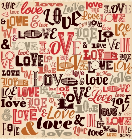 typographic: Typographic Valentines Day Design Illustration