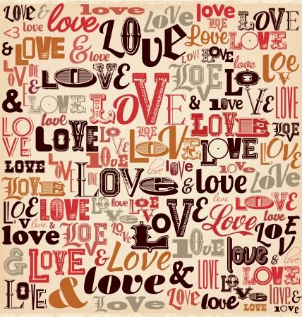 Typographic Valentines Day Design Ilustracja