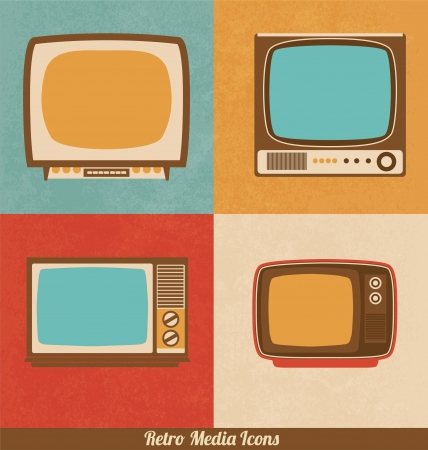 Retro Television Icons Stock Vector - 18882783