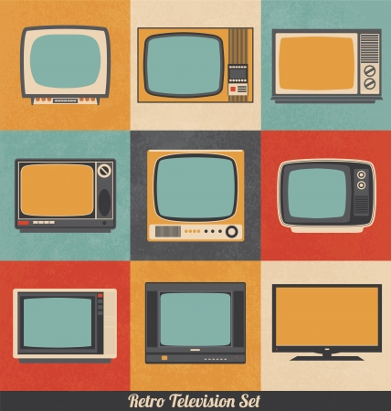 television screen: Retro Television Icons