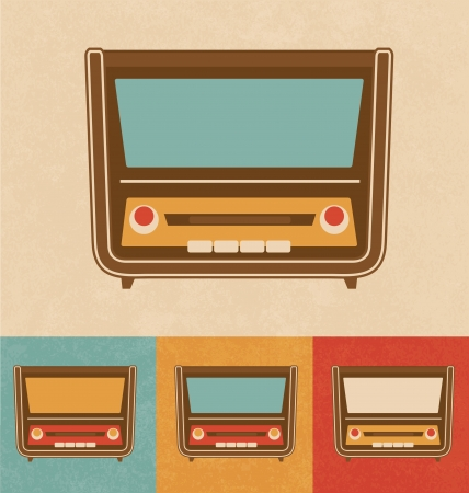 Retro Icons - Old Radio Stock Photo - 20327441