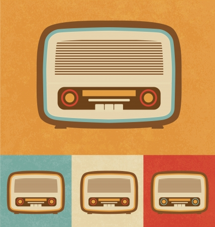vintage radio: Retro Icons - Old Radio
