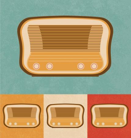 Retro Icons - Tabletop Radio Stock Photo - 20327857