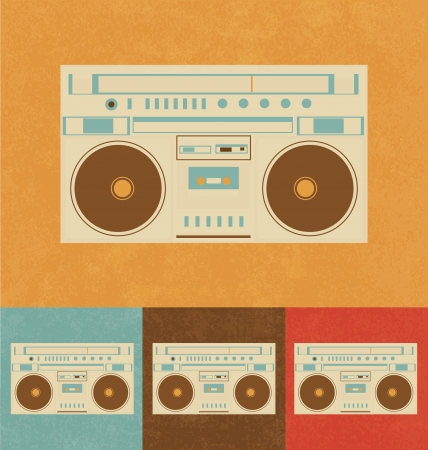 Retro Icons - Boombox photo