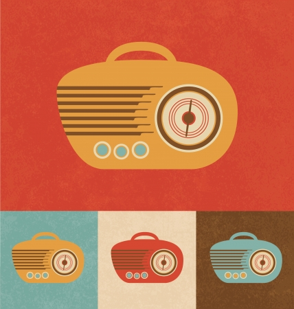 Retro Icons - Hand Radio photo